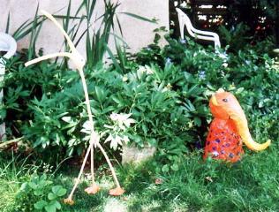 Kreativ atelier iko art nachhaltige objekte und malerei for Gartentiere deko
